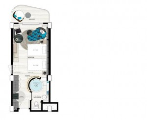 Rimba None Suite Room Layout Twin