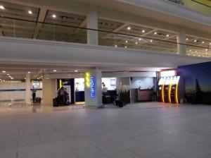 空港出口の両替所