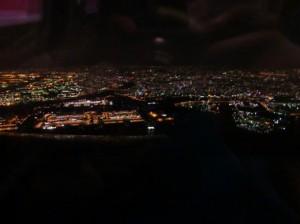 羽田空港上空の夜景