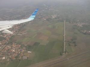 ジャカルタ上空