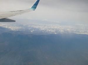 ジャワ島上空