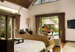 hill side villa bedroom