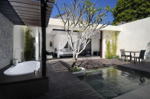 The amala spa villa - jacuzzi to bedroom