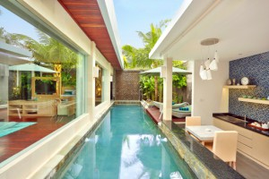 One bedroom villa pool